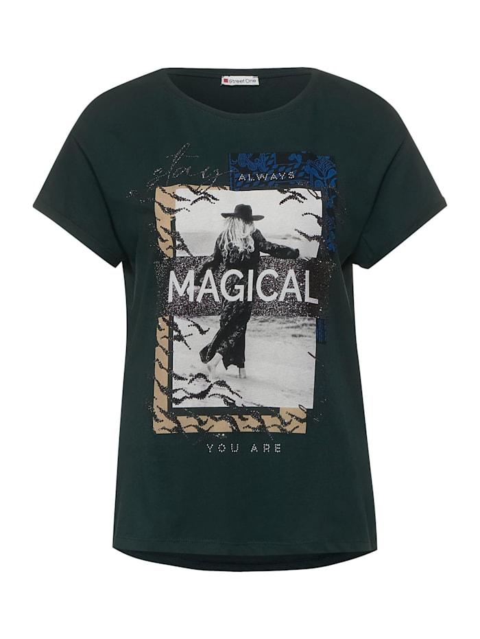 Street One T-Shirt mit Partprint, endless green