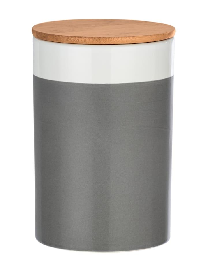 Aufbewahrungsdose Malta 1,45 l hochwertige Keramik, Keramikdose im trendigen Farbblockdesign in