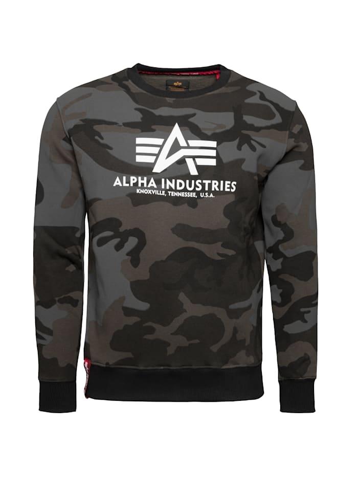 Alpha Industries Sweatshirt Basic Sweater Camo, schwarz