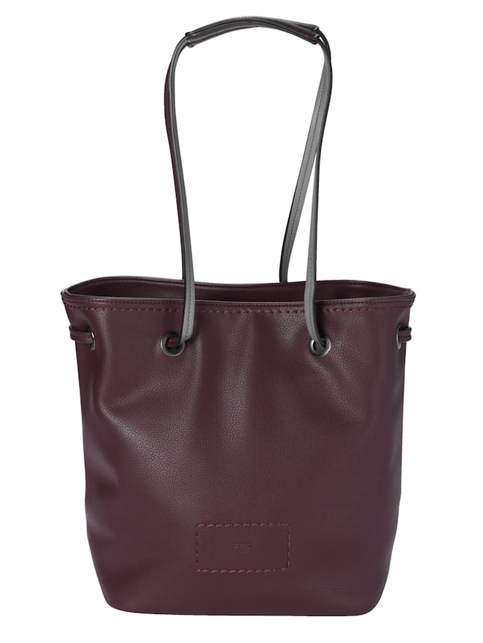 Tom Tailor Shopper in twee kleuren, berry/grijs