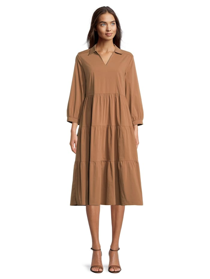 Betty & Co Casual-Kleid mit 3/4 Arm, Toffee