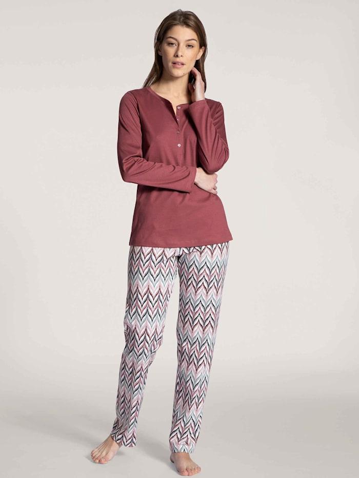 Calida Pyjama lang Ökotex zertifiziert, feminine rose