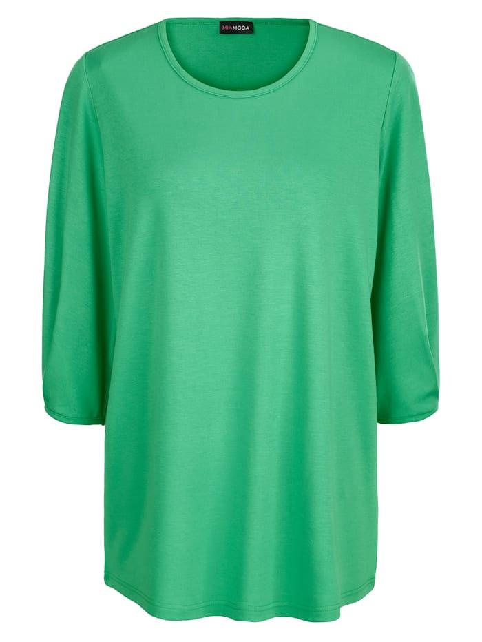 MIAMODA Tričko z tvarově stabilního žerzeje, Zelená