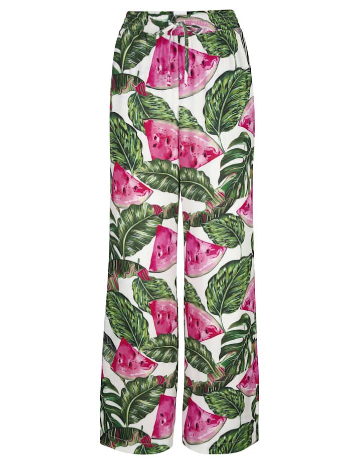AMY VERMONT Hose mit Melonendruck, Grün/Pink