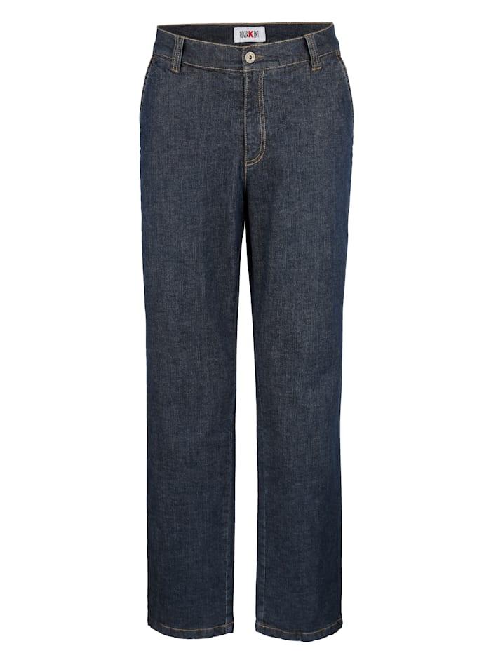 Fodrade jeans med flanellfoder