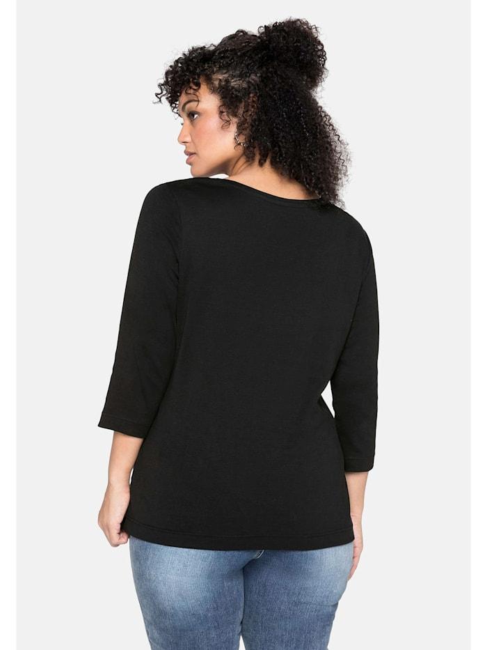 Sheego Shirt aus reiner Baumwolle