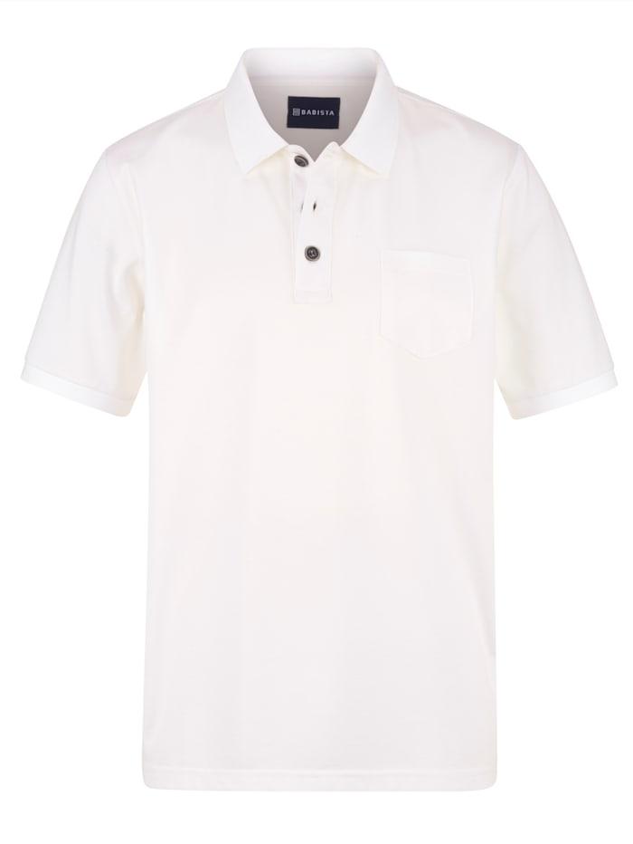 Babista Premium Poloshirt met fijne zijde, Wit