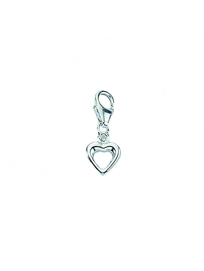 1001 Diamonds 1001 Diamonds Damen Silberschmuck 925 Silber Charms Anhänger Herz, silber