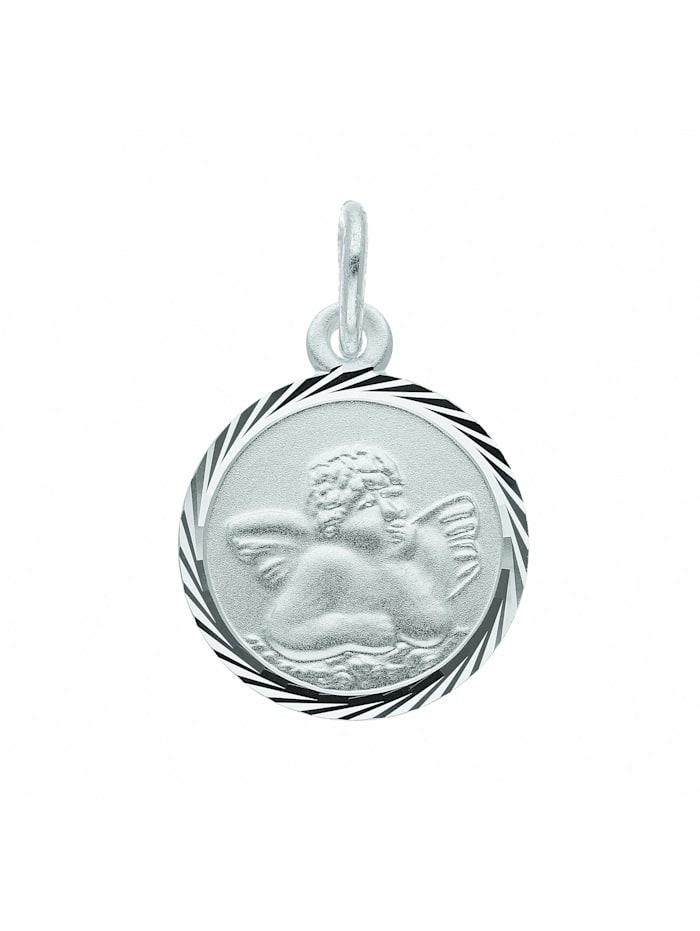 1001 Diamonds Damen Silberschmuck 925 Silber Anhänger Amor Ø 12 mm, silber