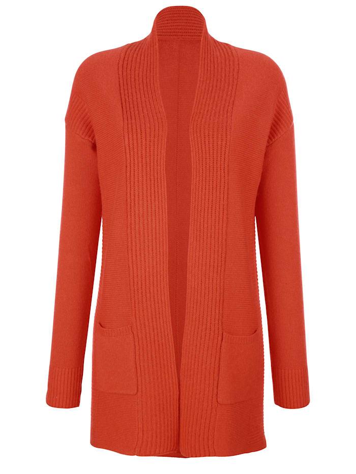Alba Moda Gilet en matières mélangées haut de gamme, Orange