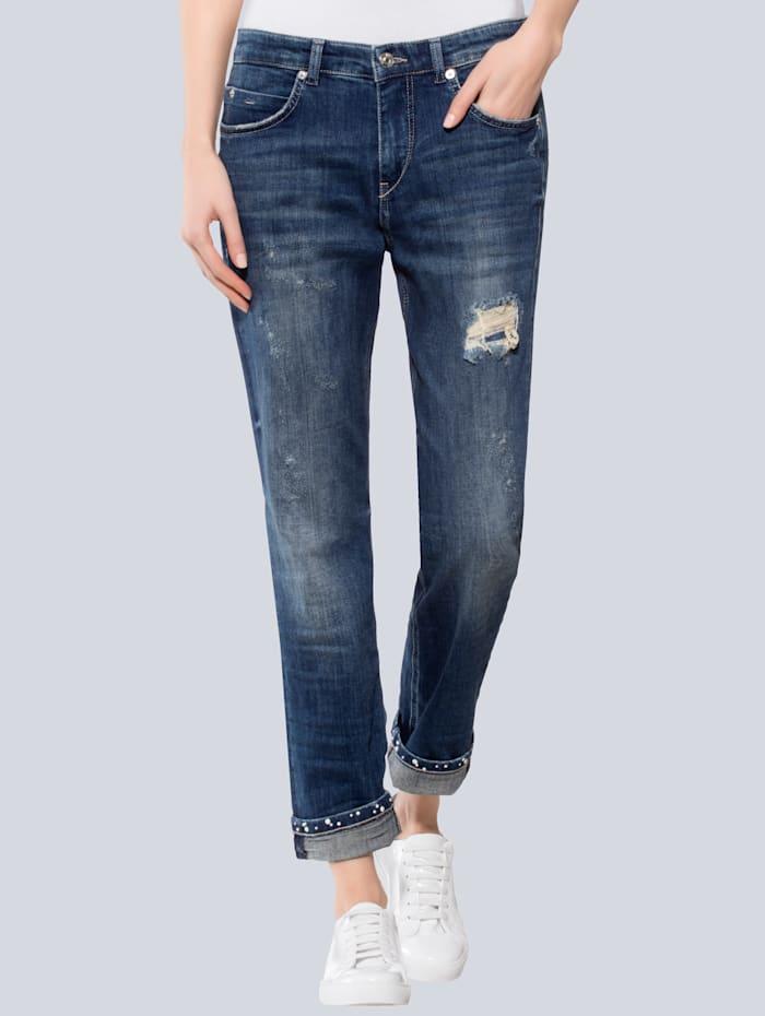 Jeans mit Perlen am Turn-Up Saum
