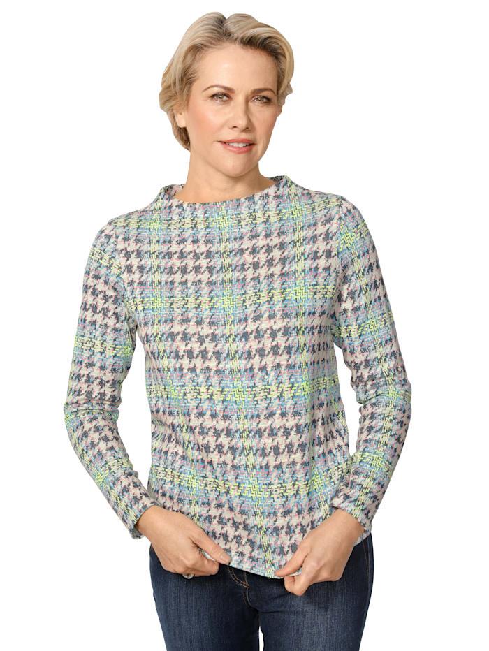 Sweatshirt van elastisch jacquardmateriaal