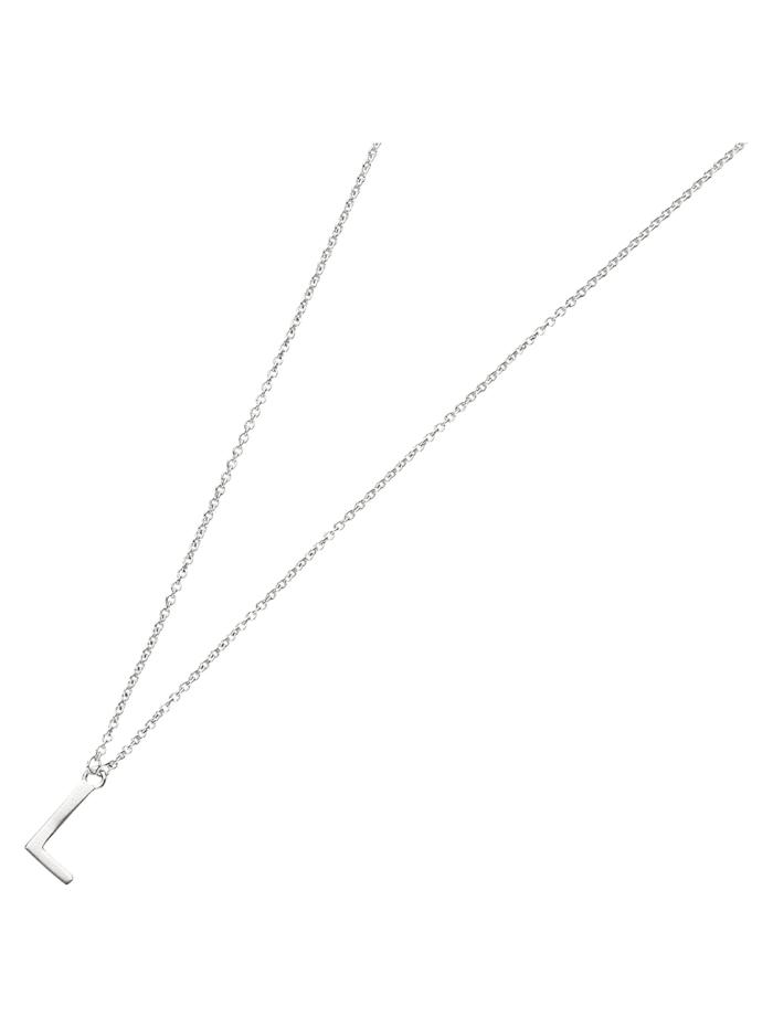 Smart Jewel Collier Buchstabe L, Silber 925, Silber