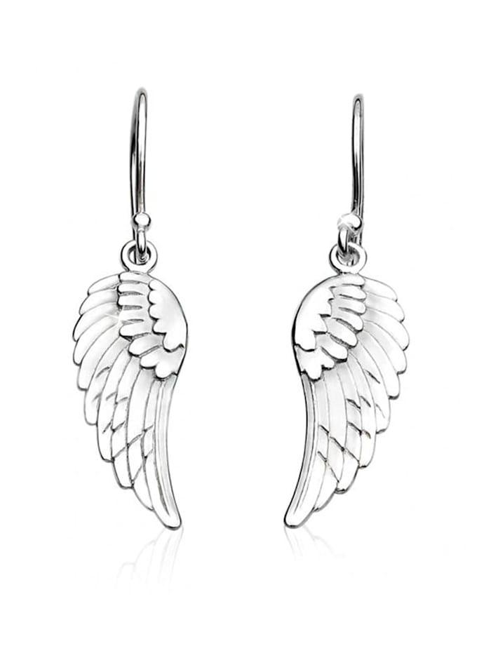 Nenalina Ohrringe Ohrhänger Flügel Glücksbringer 925 Sterling Silber, Silber