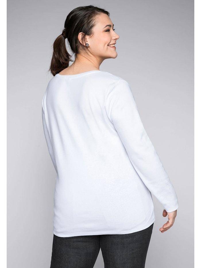 Sheego Langarmshirt in Ripp-Qualität