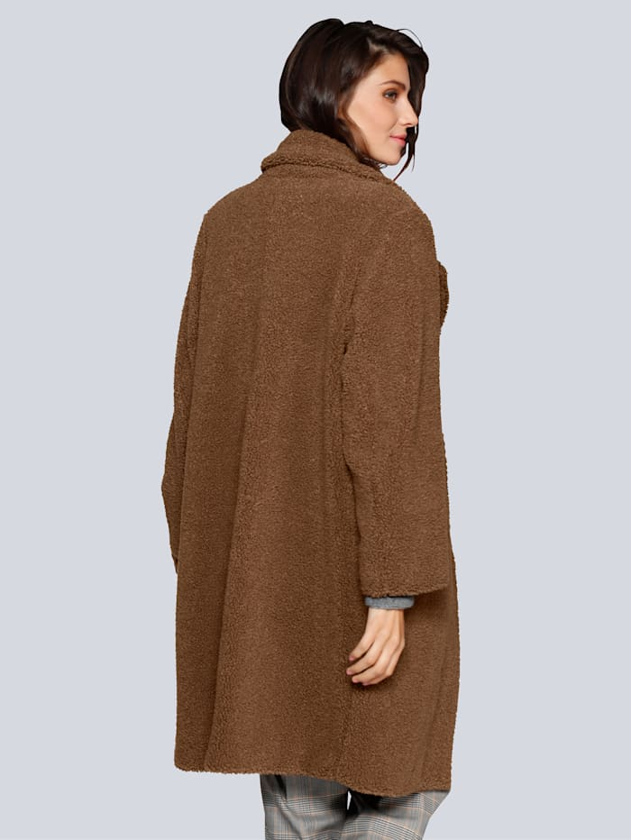 Mantel im Teddyfell