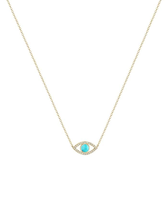 Halskette Evil Eye Howlith Kristalle 925 Silber
