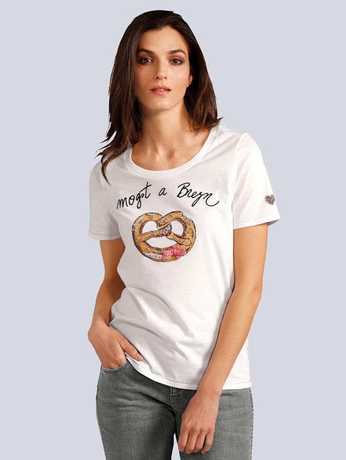 OUI Shirt mit tollem Motiv, Weiß