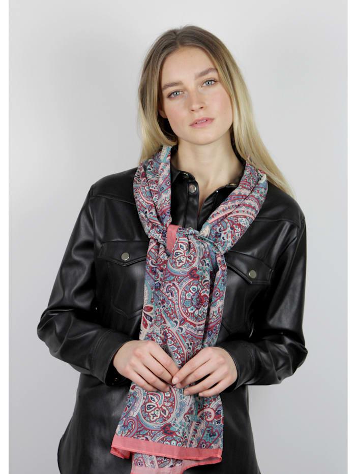 Hauchfeiner Paisley-Schal aus Baumwolle und Seide