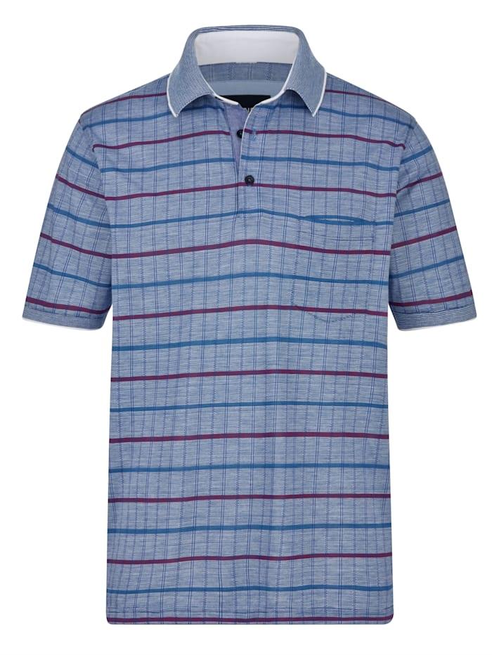 BABISTA Tričko s výrazným žakárovým vzorem, Modrá/Fialová