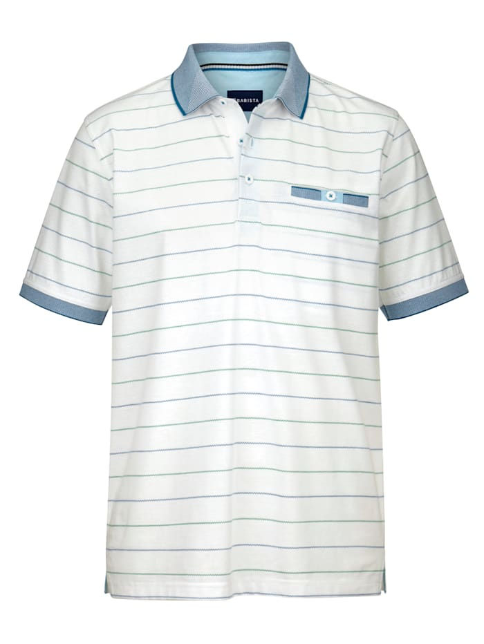 BABISTA Polo Dans une matière aux propriétés pratiques, Blanc/Bleu