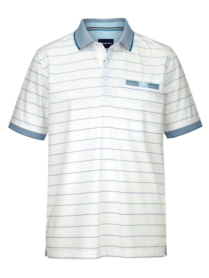 BABISTA Tričko s vynikajúcimi vlastnosťami materiálu, Biela/Modrá