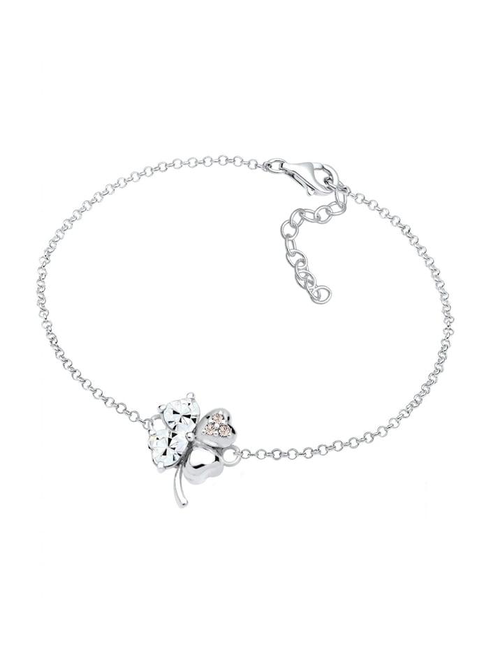 Armband Kleeblatt Kristalle 925 Sterling Silber