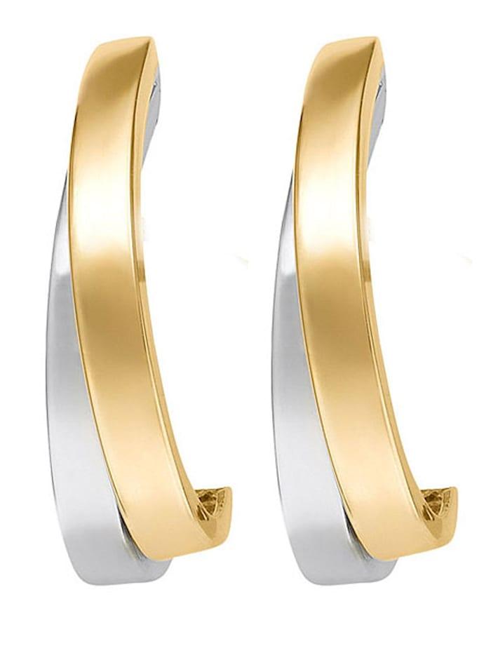 CHRIST GOLD CHRIST Gold Damen-Ohrstecker 585er Gelbgold, 585er Weißgold, bicolor/gold