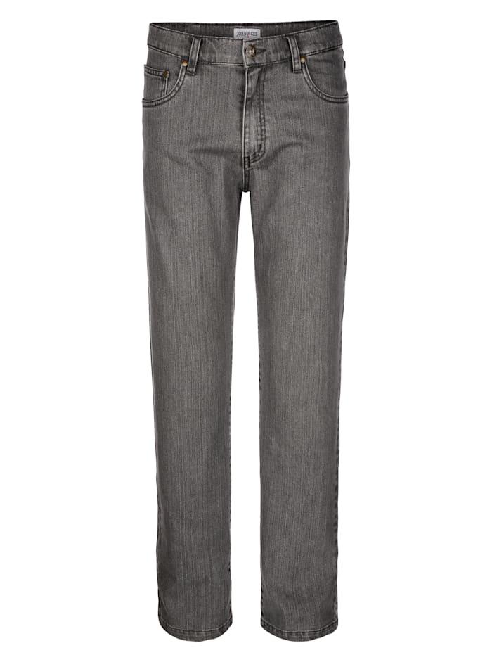 John F. Gee Jeans i skön kvalitet, Ljusgrå