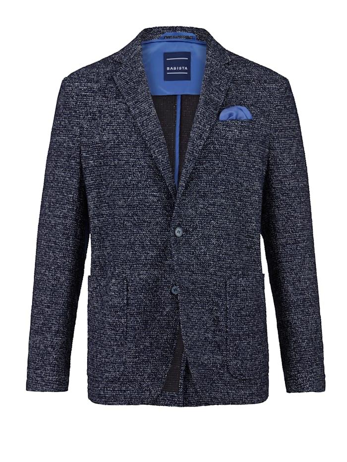 BABISTA Veste en maille légère et très confortable, Bleu/Blanc/Noir