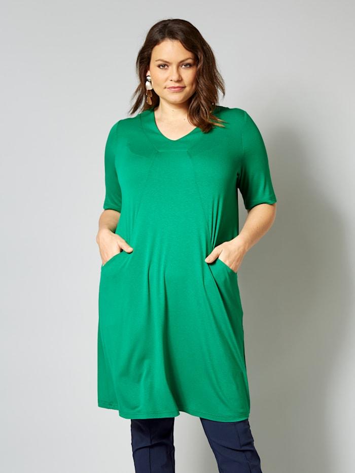 MIAMODA Jurk van shirtmateriaal, Groen