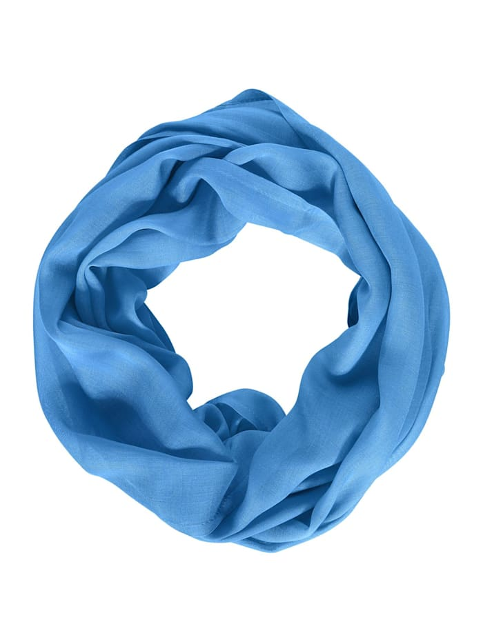 Cecil Basic Loop in Unifarbe, cold aqua blue