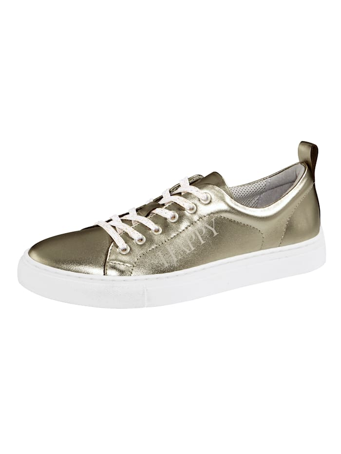 Filipe Shoes Sneaker met modieus HAPPY-opschrift, Goudkleur