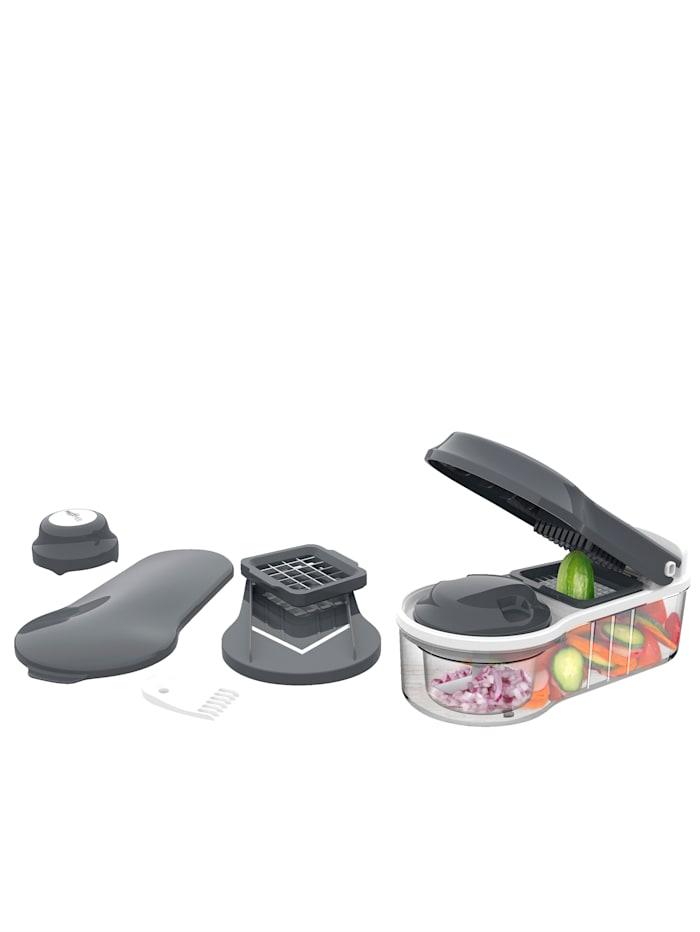MAXXMEE 12tlg. Multi-Schneider 'Chop'n Slice Plus', schwarz/weiß