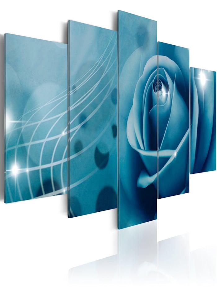 artgeist Wandbild Blaue Schönheit, Blau