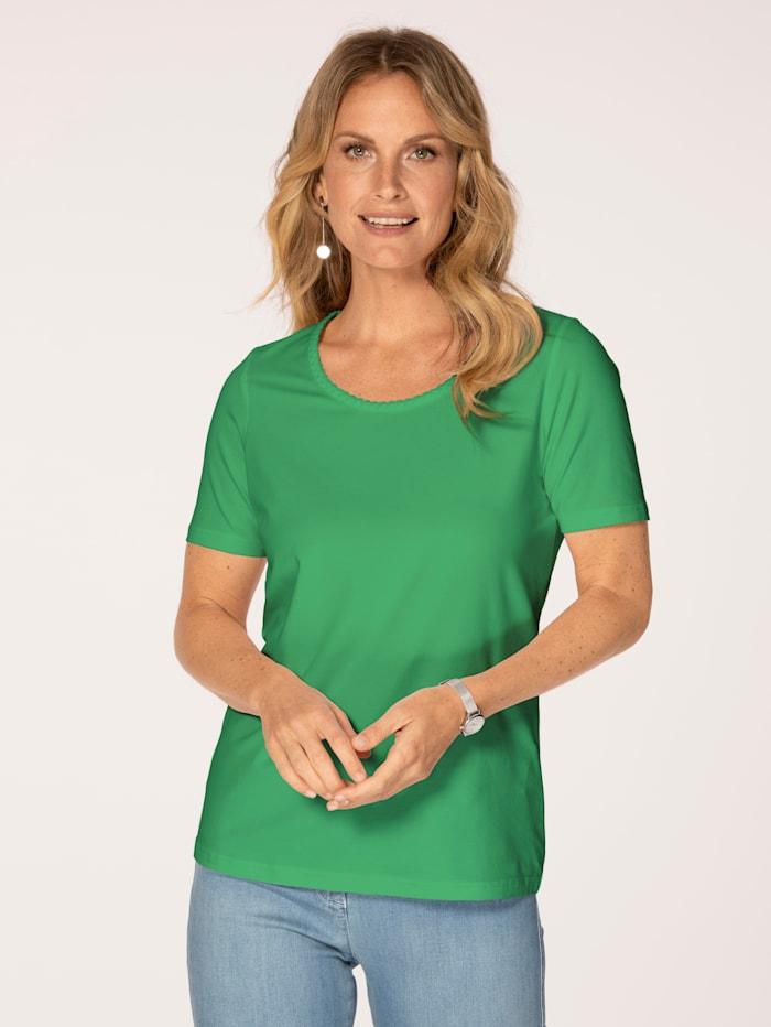 MONA Shirt mit Pima Baumwolle, Grün