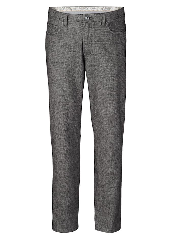 BABISTA Pantalon d'aspect laine, Noir/Gris