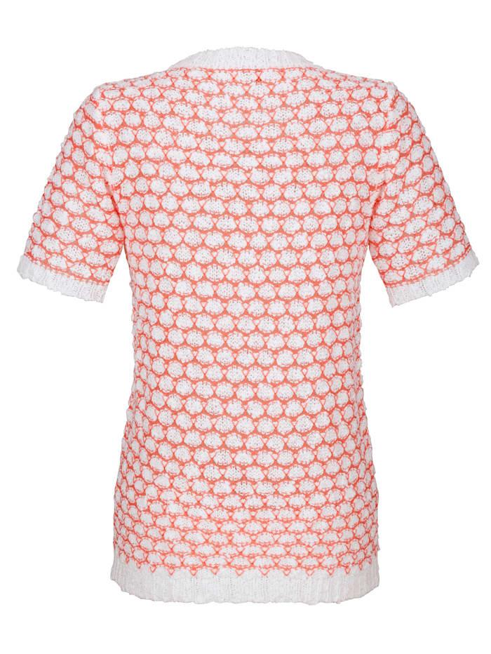 Pullover mit flauschigem Effektgarn
