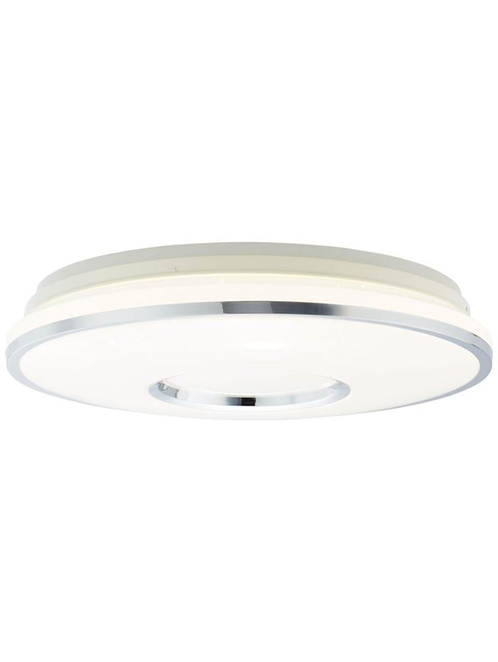 Brilliant Visitation LED Deckenleuchte 49cm weiß-silber, weiß-silber