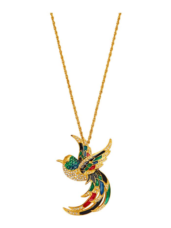 Golden Style Pendentif + chaîne, Multicolore