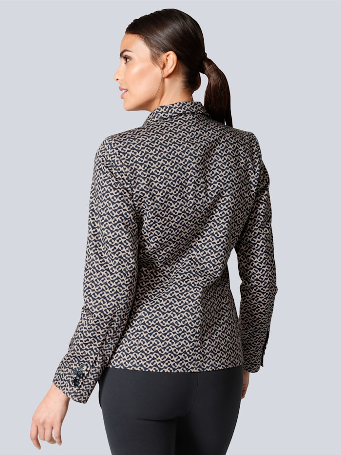 Blazer in tollem Grafik-Print allover