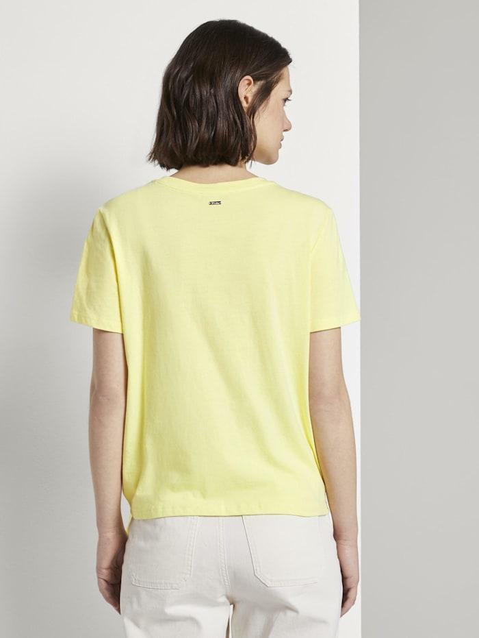 Lockeres T-Shirt mit Knotendetail