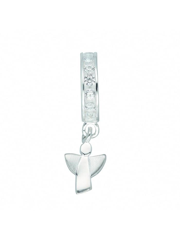 1001 Diamonds Damen Silberschmuck 925 Silber Anhänger mit Zirkonia Ø 10 mm, silber