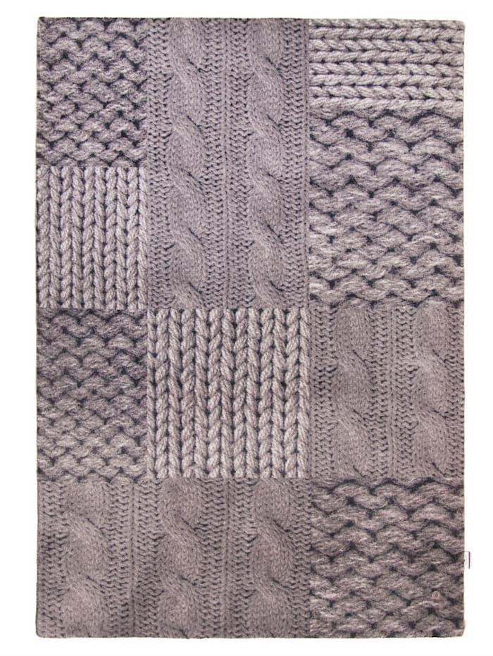 Tom Tailor Webteppich Patch Knit, Grau