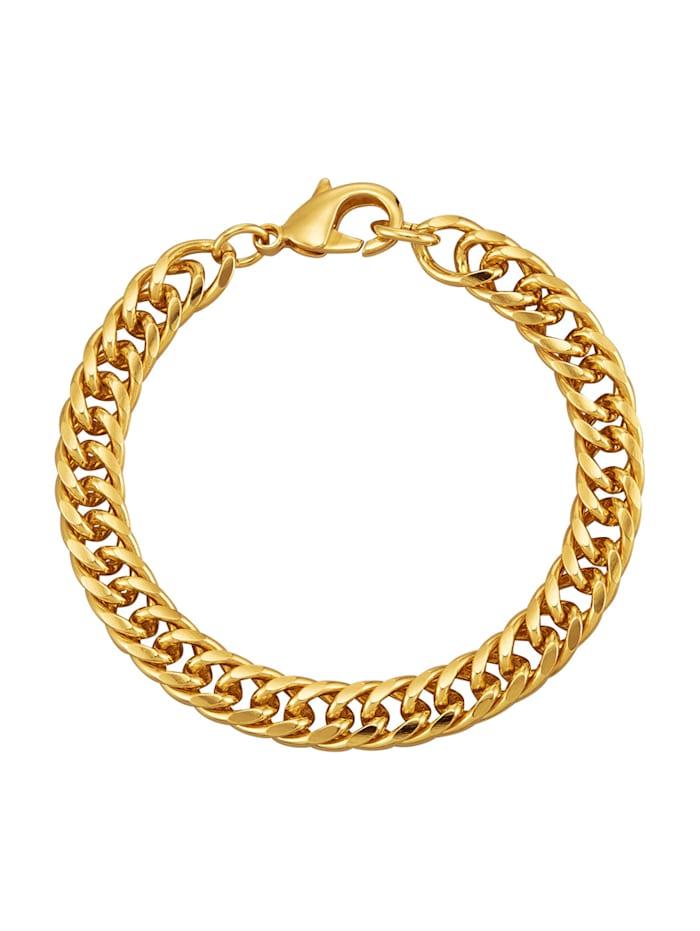 Armband i dubbel pansarlänk, Guldfärgad