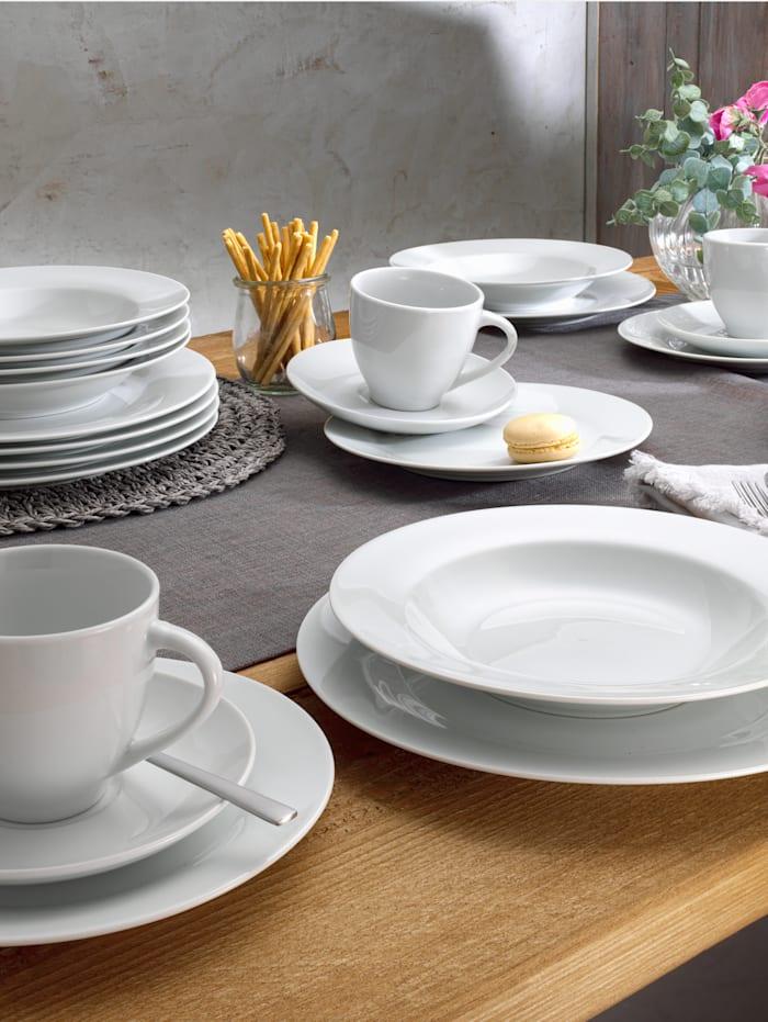 Van Well Kaffeservis i 18 delar – Basic, vit