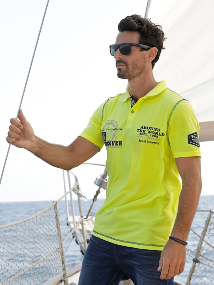 BABISTA Poloshirt bedruckt und bestickt, Neongelb