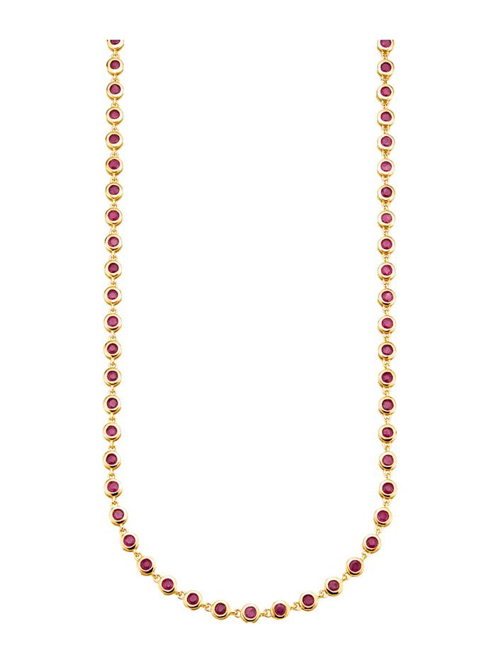 Diemer Farbstein Collier mit Rubinen, Rot