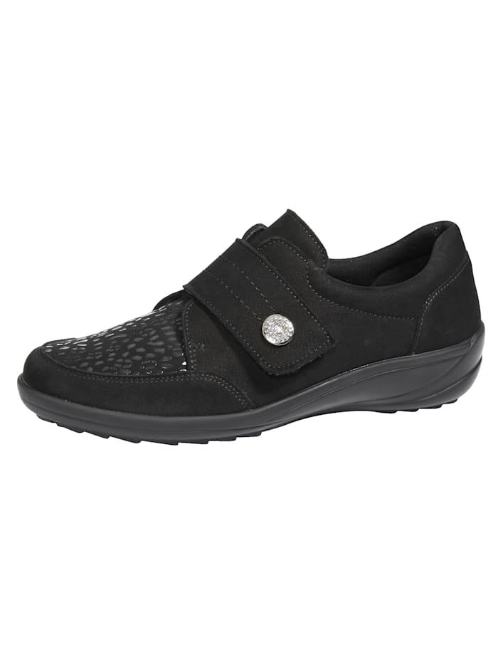 Naturläufer Velcro shoes, Black