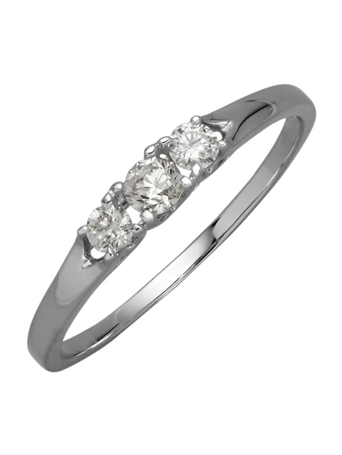 Diemer Diamant Damenring, Silberfarben